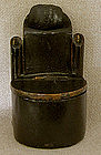 Antique Chinese lacquered ink, seal and brush holder