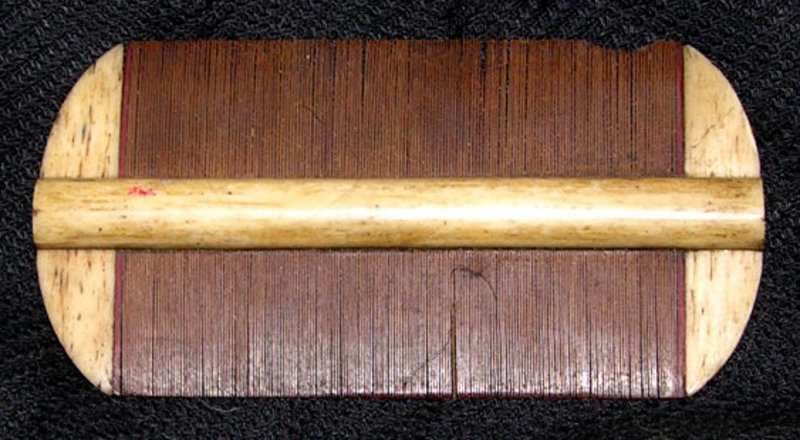 Antique Chinese Bone Hair Comb