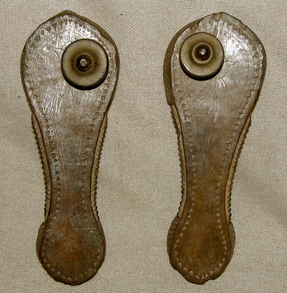 Hand carved wooden sandals from India