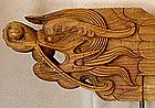 Mongolian Buddhist Temple wood dragon rafter beam