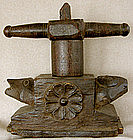 Antique Hand carved hard wood Juicer from India