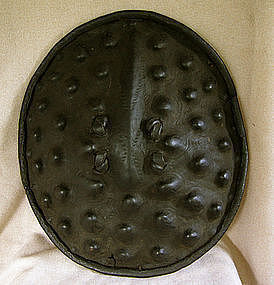 African Leather Warrior Shield from Ethiopia
