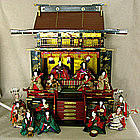 Large Meiji Japanese lacquer Hina Doll Goten Palace