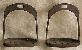 Pair of Antique Chinese iron Stirrups