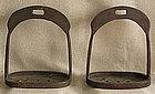 Pair of Antique Chinese iron Stirrups