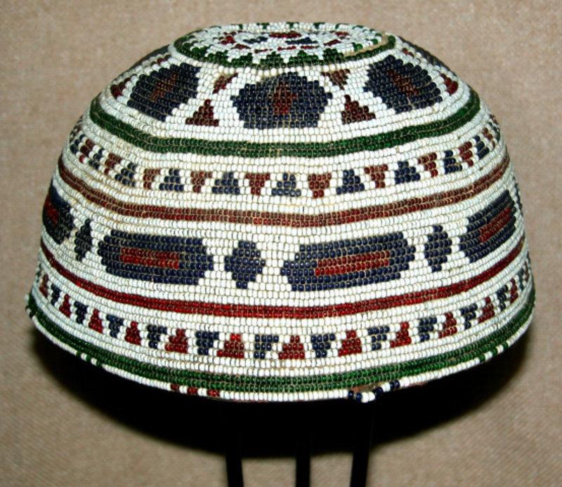 Southern Afganistan Pashtun Beaded Skullcap