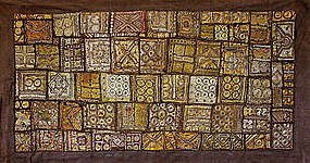 Antique large Embroidery Panel from India Pakistan