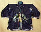 Antique Chinese Small Childs Embroidered Silk Jacket
