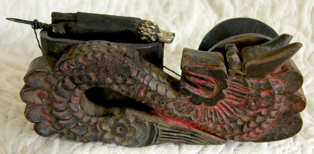 Antique Chinese Carpenters Tool with carved dragon