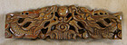 Antique Chinese wood carving of dragons and pearl