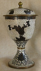 Antique Chinese Cloisonne large covered Chalice