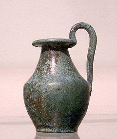 AN ANCIENT GREEK BRONZE JUG