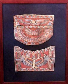 AN ANCIENT EGYPTIAN CARTONNAGE ENSEMBLE