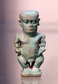 AN ANCIENT EGYPTIAN FAIENCE PATAIKOS