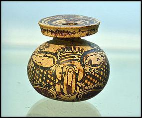 AN ANCIENT CORINTHIAN QUATREFOIL ARYBALLOS