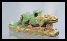 AN ANCIENT EGYPTIAN AMULET OF A MONGOOSE