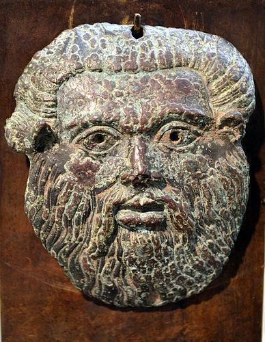 AN ANCIENT ETRUSCAN BRONZE ACHELOUS