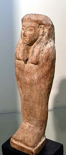 A LARGE ANCIENT EGYPTIAN WOOD PTAH-SOKAR-OSIRIS