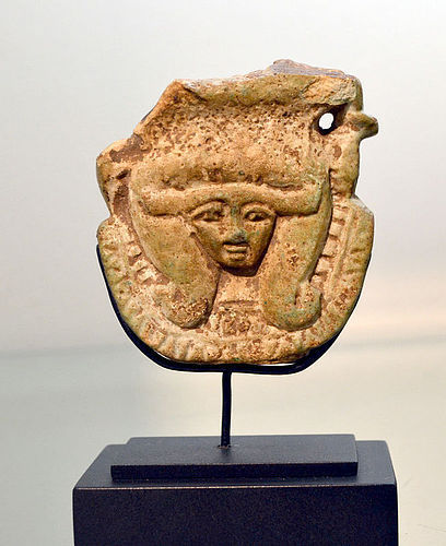 AN ANCIENT EGYPTIAN HATHOR SISTRUM FRAGMENT