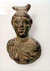 AN ANCIENT ROMAN BRONZE DIANA APPLIQUE