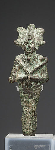 AN ANCIENT EGYPTIAN BRONZE OSIRIS
