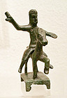 A ROMAN CELTIC BRONZE HORSE AND RIDER