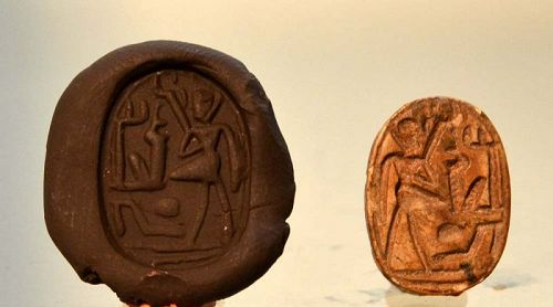 AN ANCIENT EGYPTIAN SCARAB FOR RAMSES II