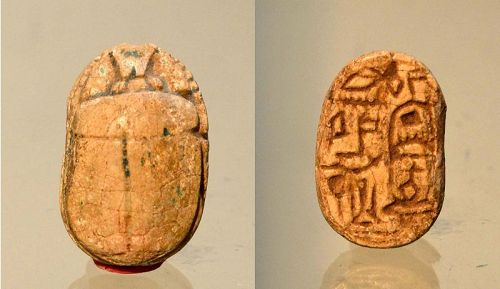 AN EGYPTIAN MIDDLE KINGDOM SCARAB FOR NEFERHOTEP