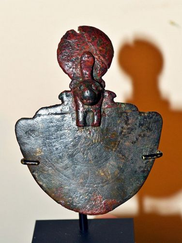 AN ANCIENT EGYPTIAN BRONZE AEGIS