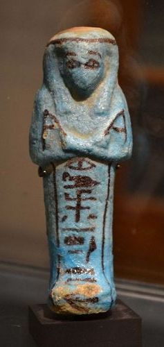 AN ANCIENT EGYPTIAN FAIENCE SHABTI FOR GAUT-SESHEN