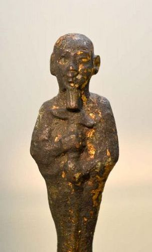 AN ANCIENT EGYPTIAN BRONZE PTAH