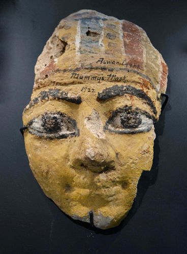 AN ANCIENT EGYPTIAN STUCCO MASK
