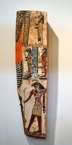 AN ANCIENT EGYPTIAN FRAGMENT FROM A SARCOPHAGUS