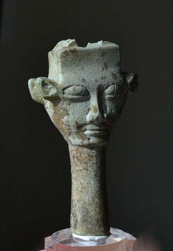 AN ANCIENT EGYPTIAN HATHOR SISTRUM FRAGMENT