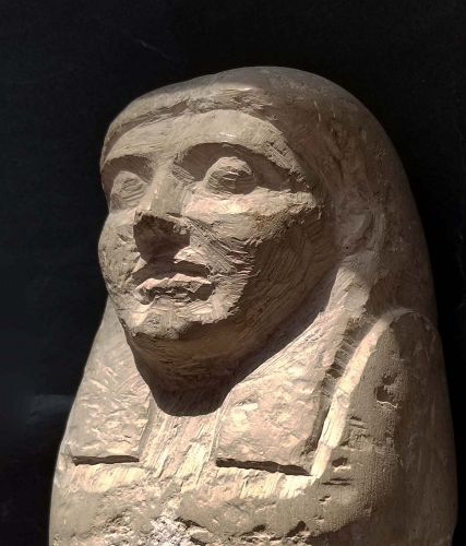 DUMMY CANOPIC JAR WITH THE HEAD OF IMSETY
