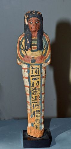 AN ANCIENT EGYPTIAN NEW KINGDOM WOOD SHABTI
