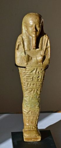 AN ANCIENT EGYPTIAN FAIENCE SHABTI FOR PADIEMHOTEP
