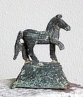 AN ANCIENT ROMAN BRONZE HORSE