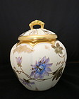 Handpainted T&V Limoges Cracker Jar