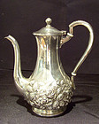 S Kirk & Sons Repousse Tea Pot Sterling Signed