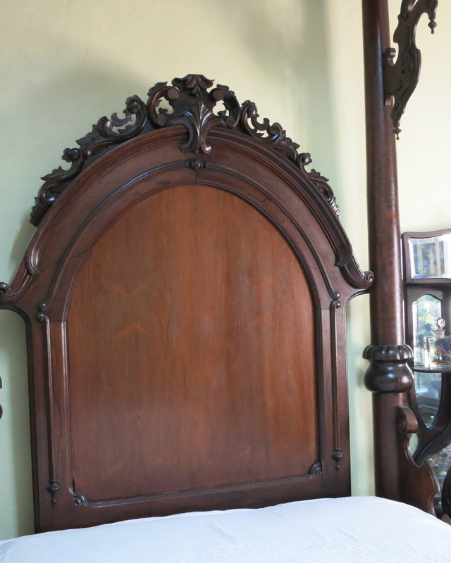American Victorian Half Tester Rosewood Bed