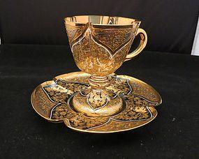Moser Pedestal Cup & Saucer