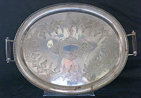 Large Silver Plate Tray