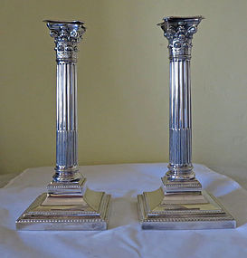 Pair Silver Plate Candlesticks