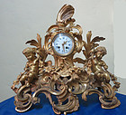 Victorian French Bronze Cherub Clock