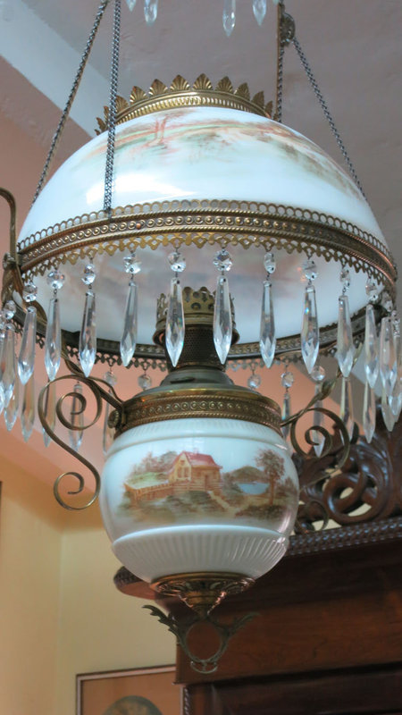 Hanging Fixture with Scenic Decoration