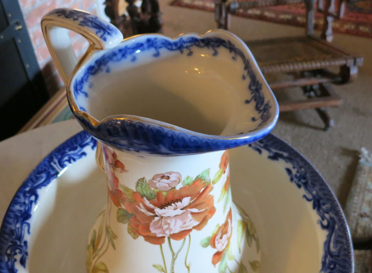 Signed, Hand Painted, Pitcher & Bowl Set