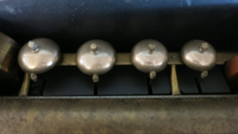 Cylinder Music Box with Bells and Drums