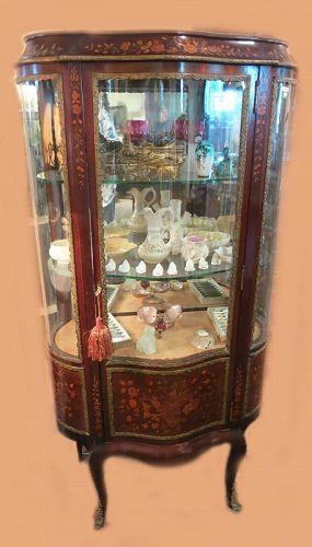 Marquetry Curio Cabinet