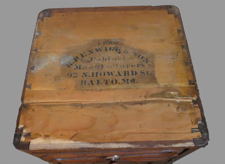 Signed American Victorian Night Stand